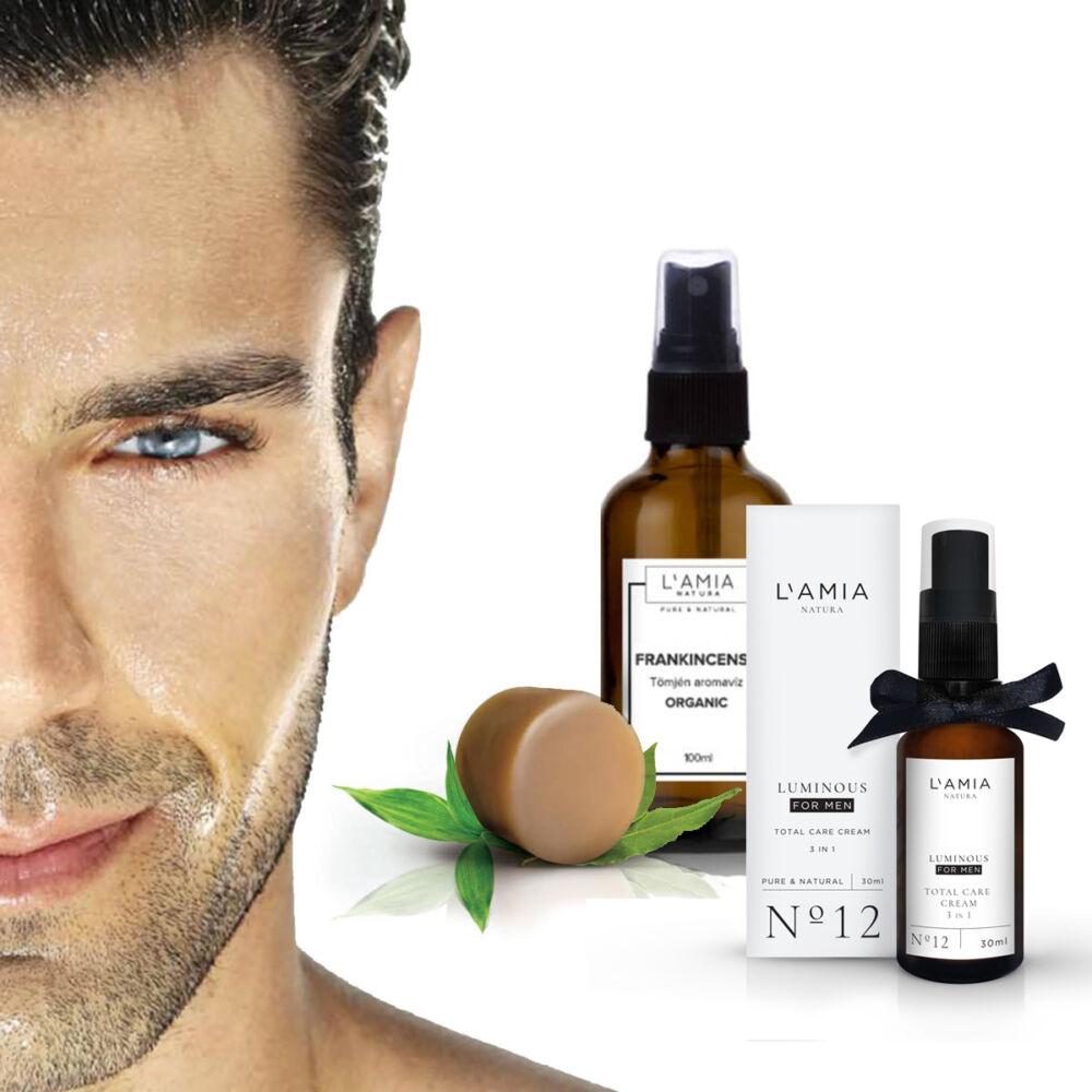 szappan férfiaknak, boroválkozáshoz, tömjén aromavíz, hialuronsavas krém, ránctalanító krém, krém férfiaknak